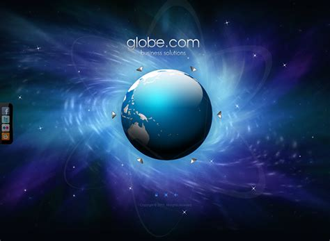 Business Globe Dynamic Flash Template On Behance Dynamic Flash Website Templates Free