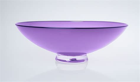 opaque violet bowl with lapis lip by nicholas kekic