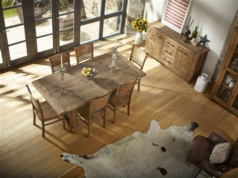 reclaimed wood timber barron dining set country reclaimed solid wood farmhouse dining table set at
