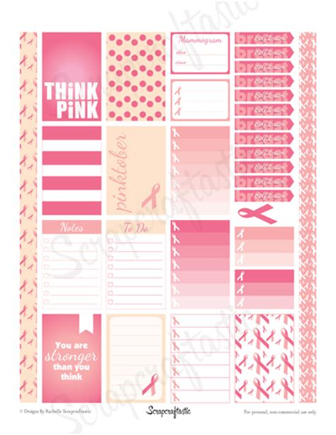 october printable planner stickers scrapcraftastic free pinktober printable planner stickers