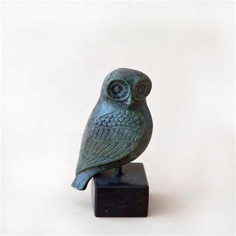 Owl L Base by Bronze Metal Owl On Marble Base