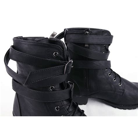 mens ankle boots with buckles s buckle combat sole ankle boots