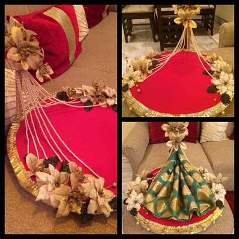 Indian gift tray..decorate tray like a stage   Wedding