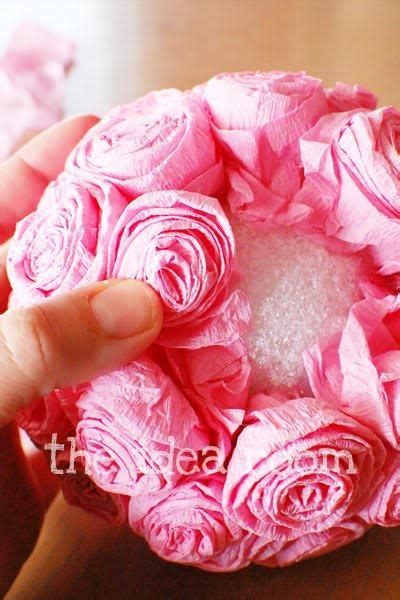paper flower rosette tutorial 1000 ideas about tissue paper roses on pinterest paper