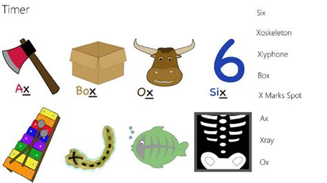 Words Starting Letter X alphabet matching x for windows 8 and 8 1