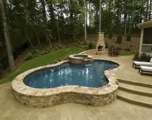 small inground pool ideas small raised pool brilliant semi inground pools