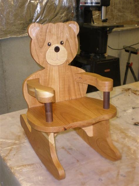 teddy bear rocking chair plans  woodworking