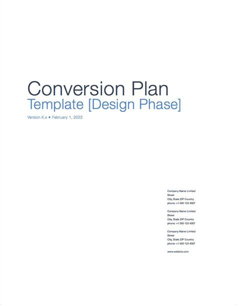 conversion plan template conversion plan apple iwork