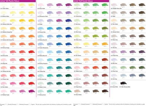 pastel colors list soft pastels daler rowney