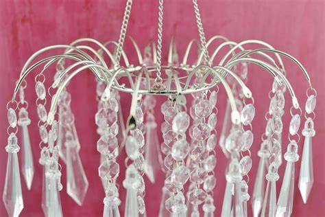 """Faceted Waterfall Crystal Chandeliers 20"""" With Lighting Kit"""
