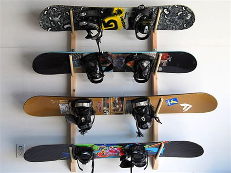Wakeboard Storage Racks by 4 Snowboard Storage Rack