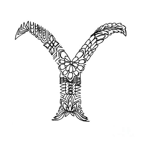 Letter Y Drawing by Patterned Letter Y Drawing By Alyssa Zeldenrust