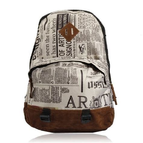 Newspaper Design Print Backpack 12 best images about backpak on canvas