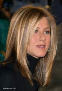 haircolor for 64 yr jennifer aniston sleek ironed hair with natural blended