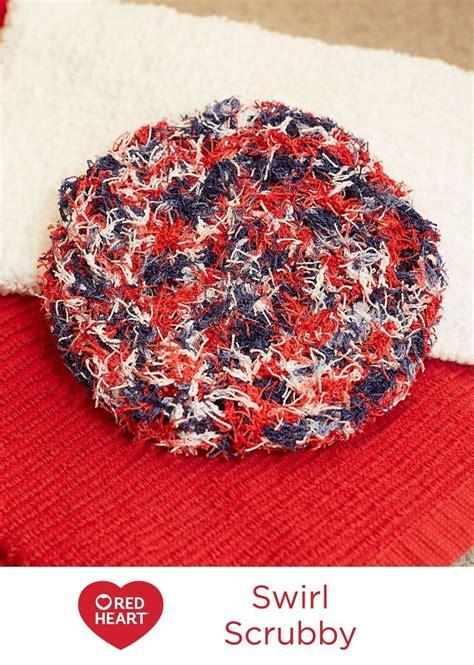 pattern red heart yarn swirl scrubby free crochet pattern in red heart yarns
