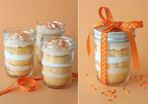 orange dreamsicle cupcakes in a jar cookies and cups