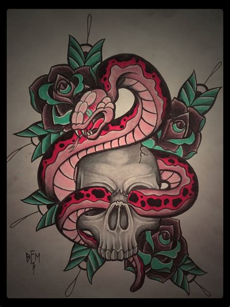 neo traditional tattoo designs neo traditional skull and snake 187 4k pictures 4k