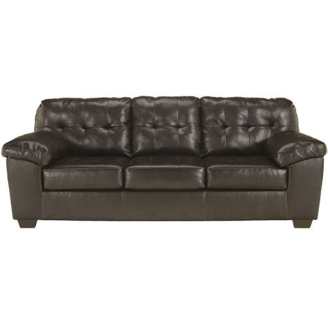 ashley leather sofas ashley furniture alliston leather sofa in brown 2010138