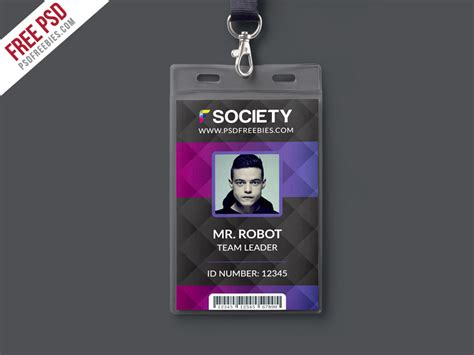 id card design for photoshop corporate office id card psd template psdfreebies com