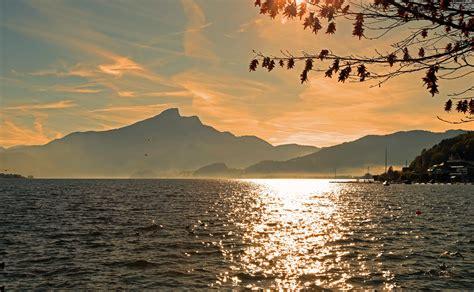 image libre eau soleil montagne lever du soleil