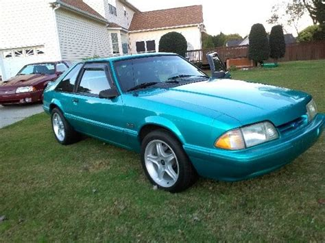 1992 mustang hatchback ford mustang hatchback 1992 bright calypso green for sale