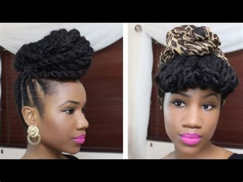 braided updo hairstyle on natural hair youtube