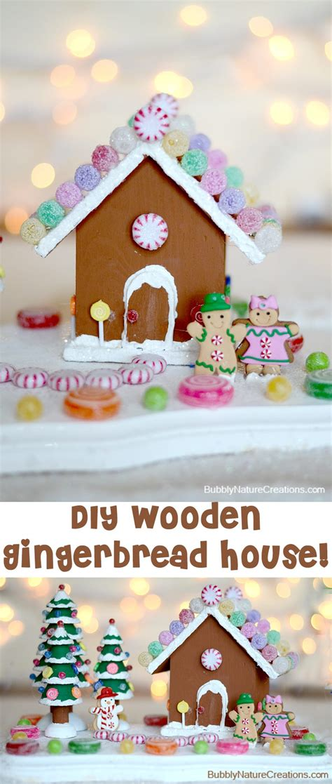 diy gingerbread house diy wooden gingerbread house sprinkle some fun