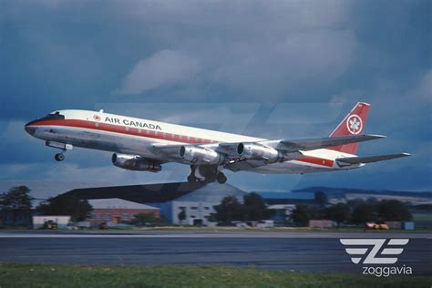 aircraft photo 4 x 6 cf tjf douglas dc 8 air canada 1960 s in collectibles transportation