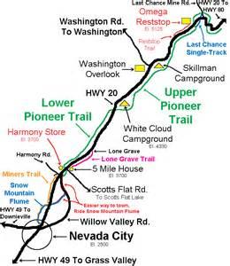 pioneer california map falls rocks or for mtb beginner mtbr