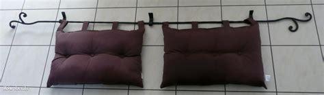 tete de lit coussin tringle support t 234 te de lit avec 2 coussins igopher fr