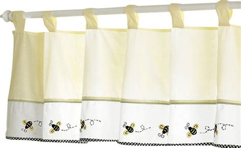 bee curtains bumble bee valance contemporary curtains by tiny totties