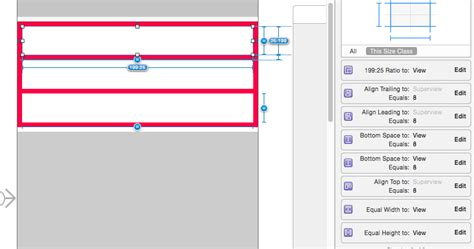 layout uiview ios how to set layout constraints for variable hight