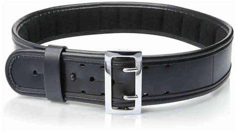 bianchi 7960 pln black sam browne belt with brass buckle
