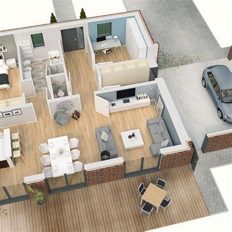 Grundriss Haus 3d by Einfamilienhaus Grundriss Modern 3d Emphit