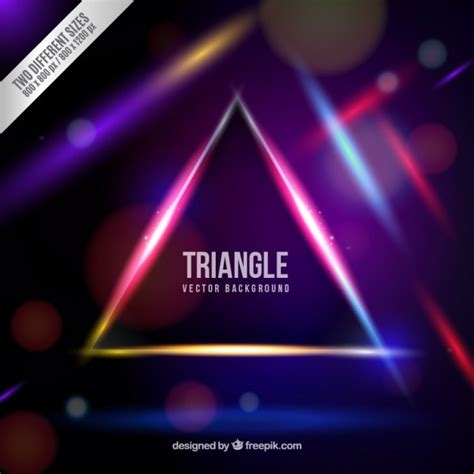 Triangel Neon by Neon Triangle Background Vector Free
