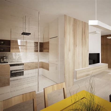 Interior Glass Walls For Homes 5 Lovely Homes In Poland With Soft Feminine Elements