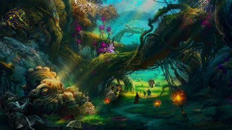 Trippy Bedroom Ideas magic forest speed art by z4ax youtube loversiq