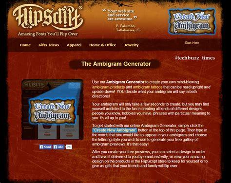 ambigram tattoo generator free create ambigrams using ambigram generator