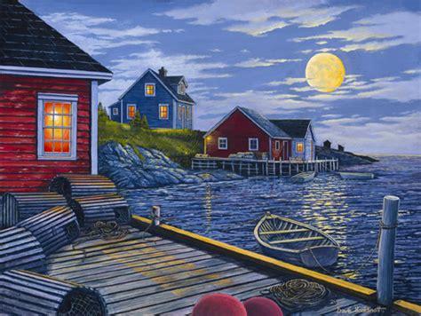 Salt Box Homes newfoundland art dave hoddinott gallery