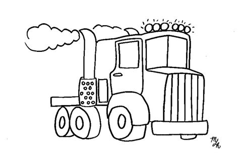 coloring page big truck free coloring pages of haul truck