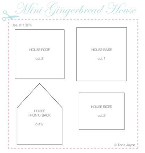 printable gingerbread house template 4 best images of printable gingerbread house patterns