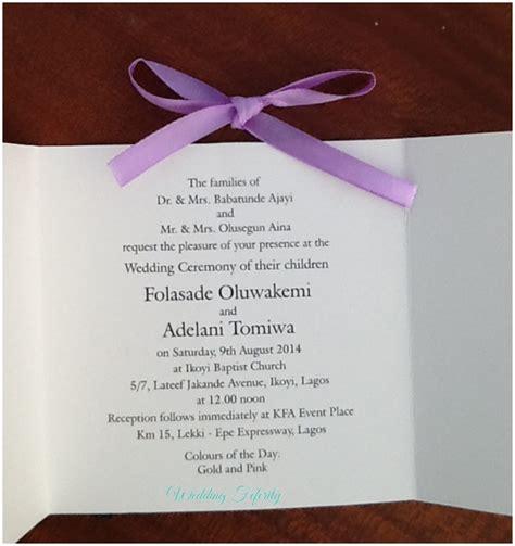 Wedding Invitation Cards Nigeria by Gatefold Wedding Invitation