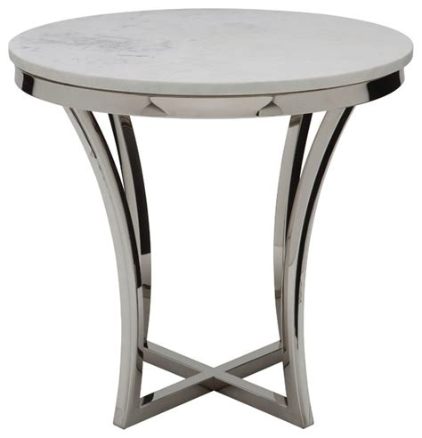 Silver Side Table Nuevoliving Side Table Silver Side Tables And End Tables Houzz
