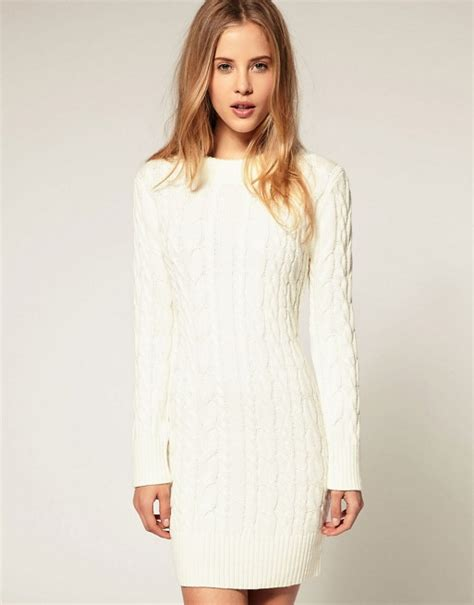 knitted sweater dress asos asos cable knit jumper dress
