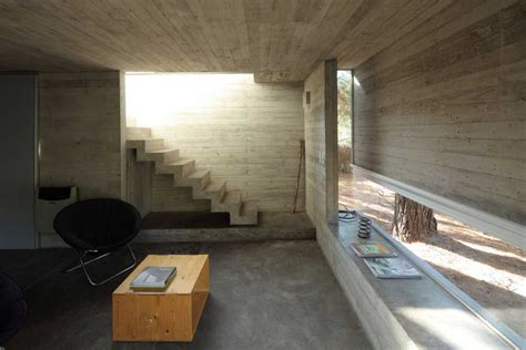 modern concrete home staircase interior design zeospot