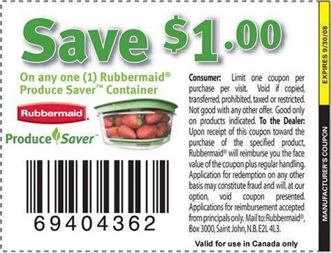 Backyard Produce Coupon Canadian Coupons Rubbermaid Produce Saver Container 1