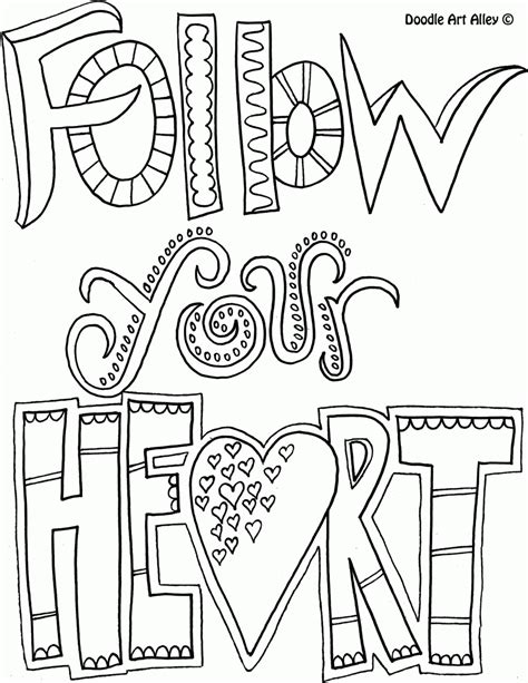 printable doodle quotes all quotes coloring pages doodle art alley coloring