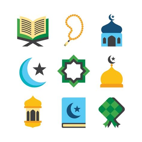 Windshield Mini Vector Sectbill islamic religious elements collection vector free