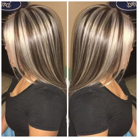 chunking or highlighting short brown hairstyle chunky blonde highlights in light brown hair www