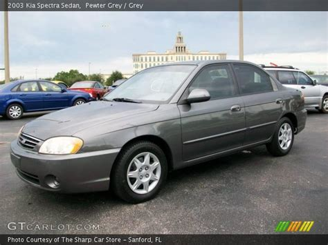 2003 Kia Spectra Pewter Grey 2003 Kia Spectra Sedan Grey Interior